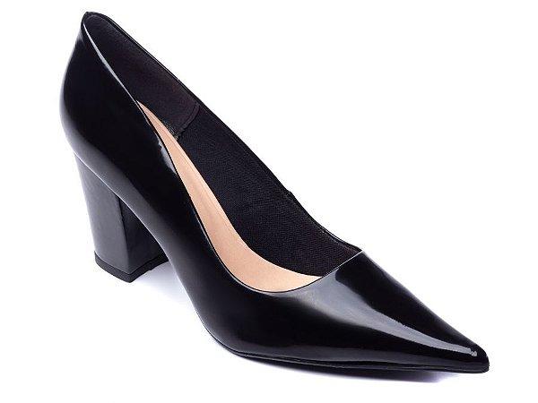 Sapato Scarpin Verniz Preto