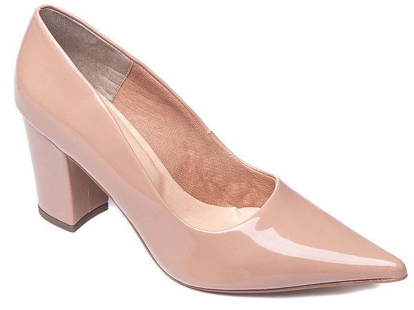 Sapato Scarpin Verniz Rose