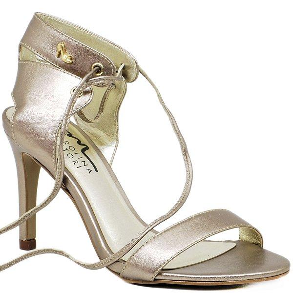 Sandália de Tira e Amarração - 6189 - Prata Velho