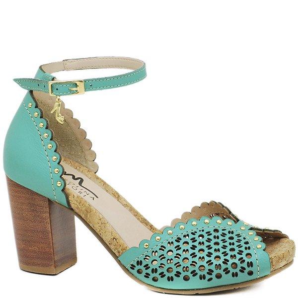 bbf043e4f57 sandalia anatomica conforto salto grosso medio couro - Sapatos ...