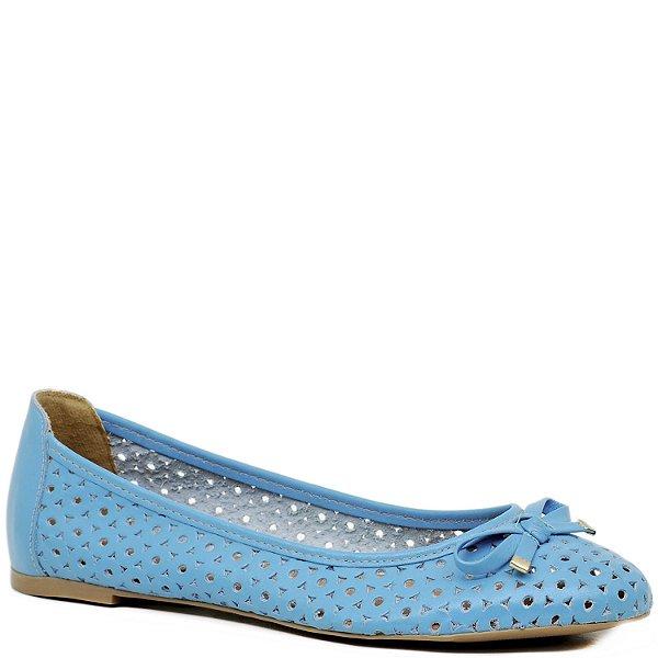 Sapatilha Charmosa com Recortes Vazado e Laço - Azul Piscina - 3014