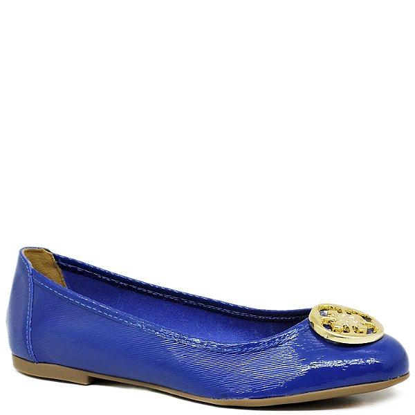 Sapatilha Charmosa com Detalhe - Azul Royal - 3647