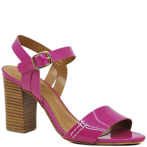 Sandália Salto Grosso Alto - Pink - 43505
