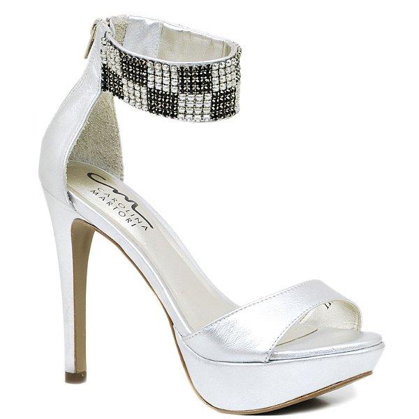 1b1d7f98b Sandália Salto Fino - 4977 - Prata - Sapatos, bolsas e acessórios ...