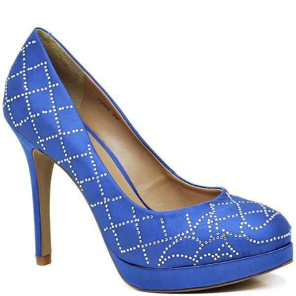 Sandália Salto Alto e Meia Pata - 7062 - Azul