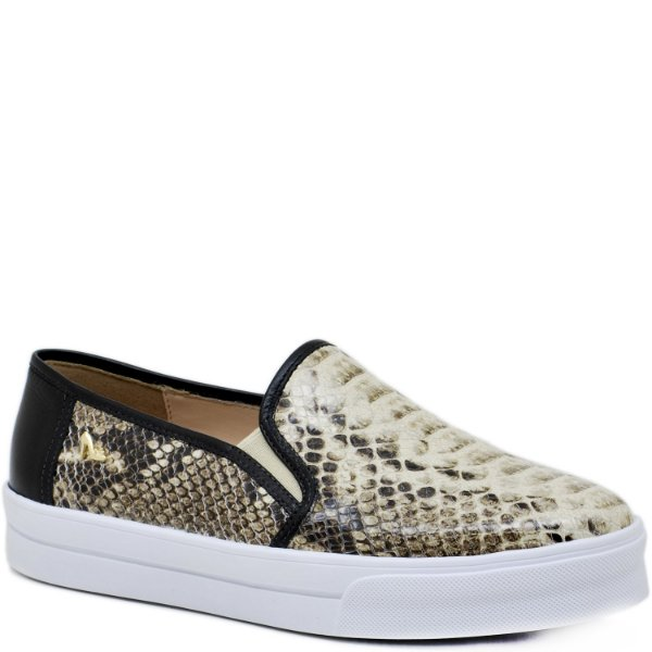Tênis Slip on Snake Natural - 90007