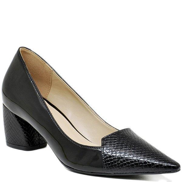 764f9b41d0 Scarpin Bico Fino Salto Grosso - 2562 - Preto - Sapatos, bolsas e ...