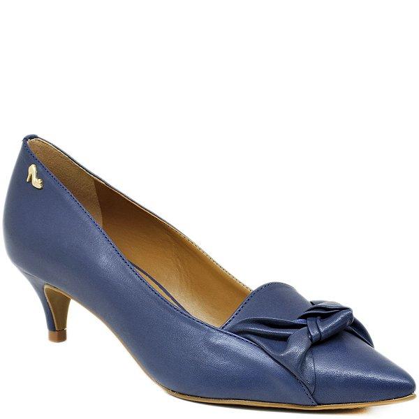 Scarpin Bico Fino Salto Médio - 45302- Azul
