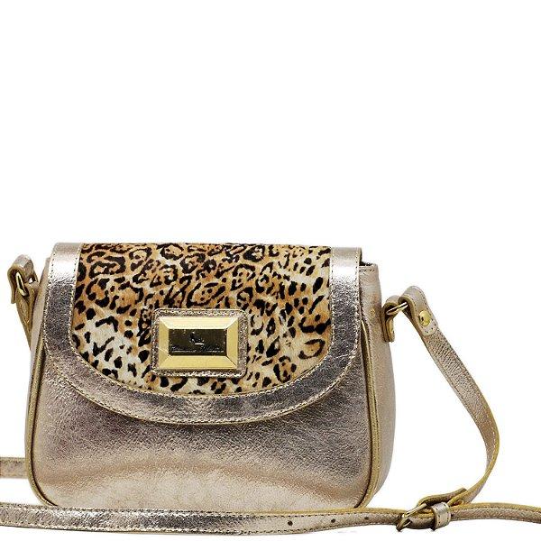 Bolsa Transversal  - 10352 - Ouro Rosé - Onça