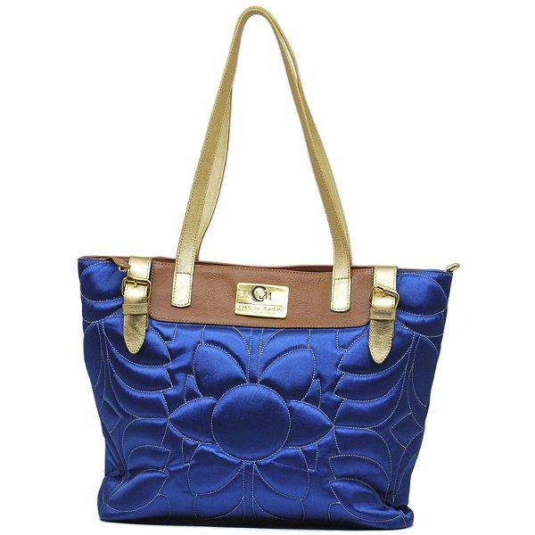Bolsa Grande de Mão - 10328 - Cetim Azul Royal