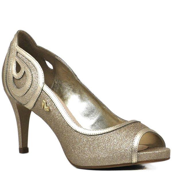 Peep Toe Salto Alto - Dourado - 62146