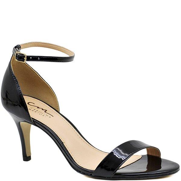 3f2e6aae5 Sandália Salto Fino Médio - Única - Verniz Preto - 47007 - Sapatos ...