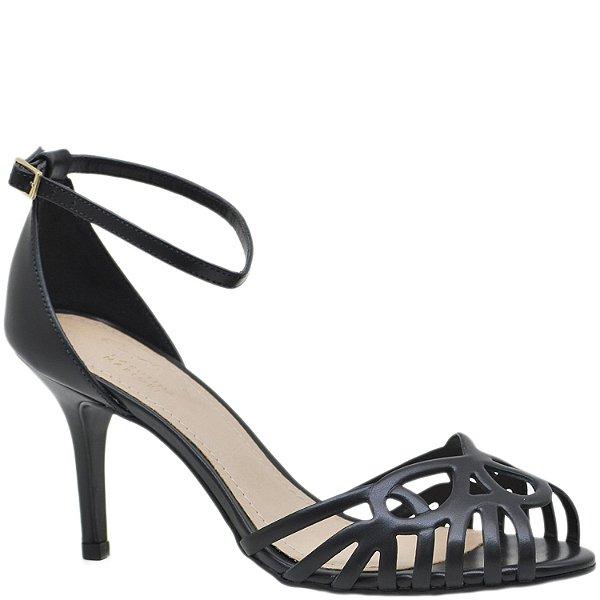 5352e7007e Sandália Salto Fino Médio Festa - Preta - 79125 - Sapatos