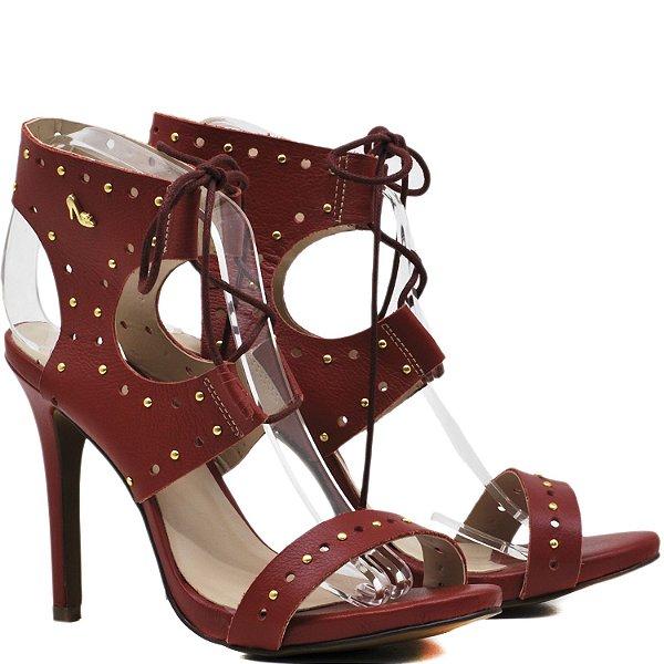 Sandália Salto Alto de amarrar - 9447 - Vermelho