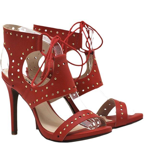 Sandália Salto Alto de amarrar - 94471 - Vermelho