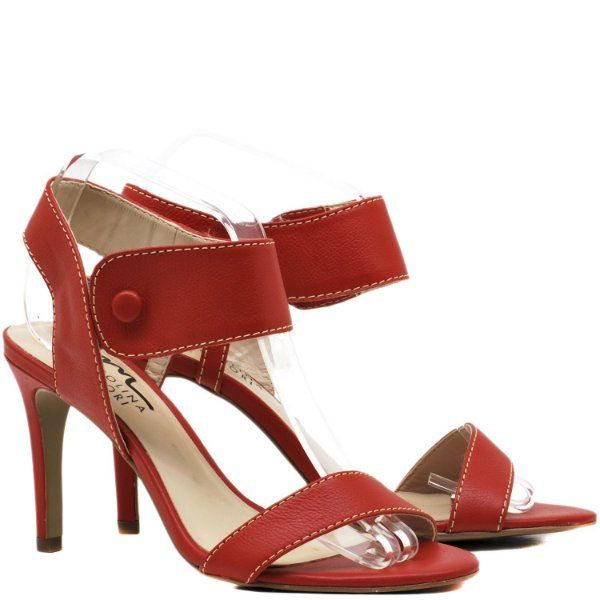 Sandália Salto Alto - 6206 - Vermelho