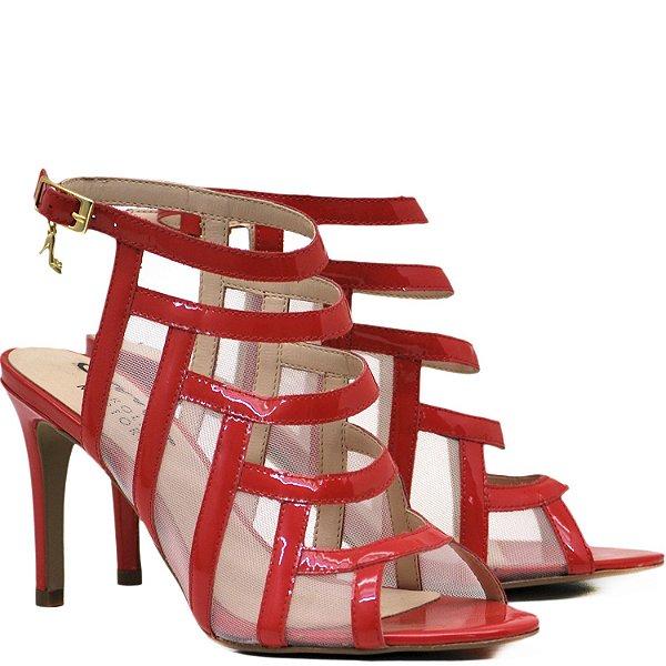 Sandália Salto Alto - 6208 - Verniz Vermelho