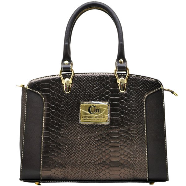 Bolsa De Mão Estruturada - 103001 - Python Bronze