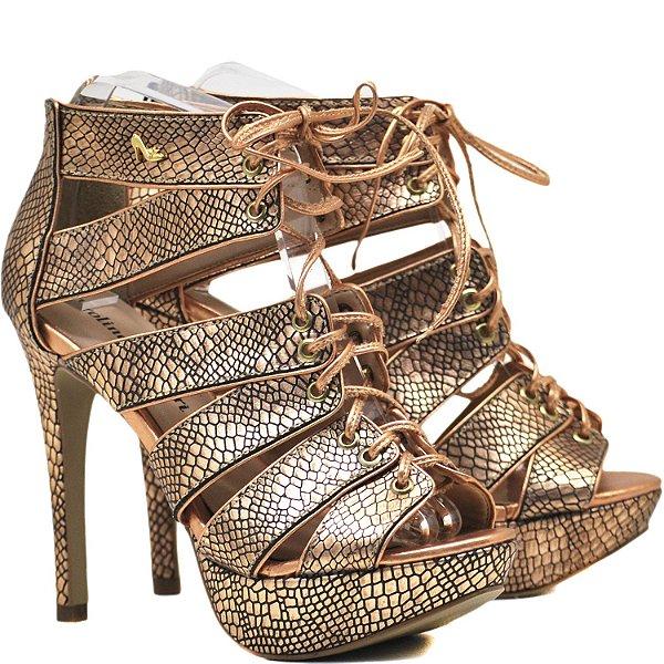 159627ad1 Sandália Salto Fino - 4978 - Python Rose - Sapatos, bolsas e ...