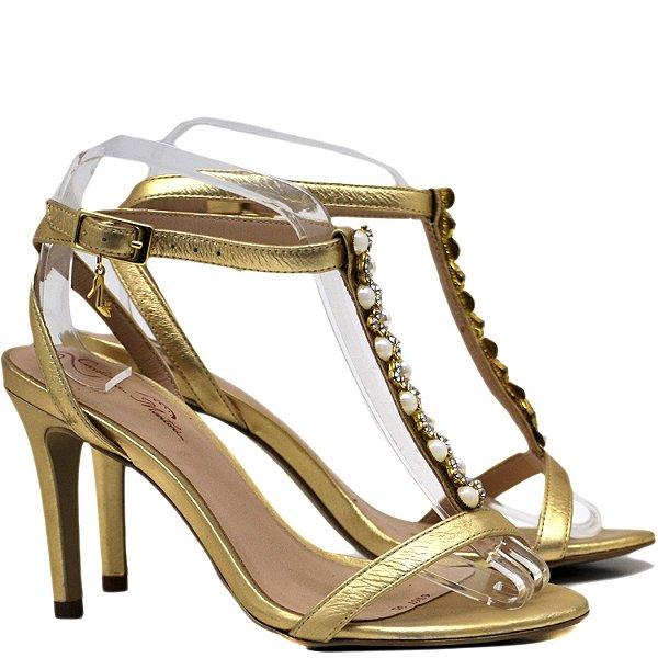 Sandália Salto Alto Fino - 6167 - Napa Ouro