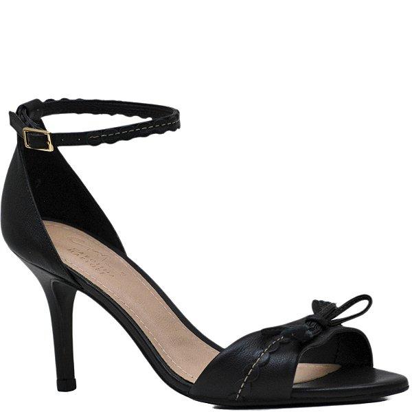 44b3e2dccc Sandália Salto Fino Médio Laço - Preto - 5578 - Sapatos