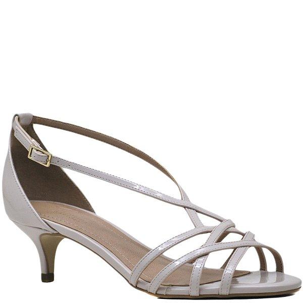 Sandália Salto Fino Baixo Tiras - Rose - 3501
