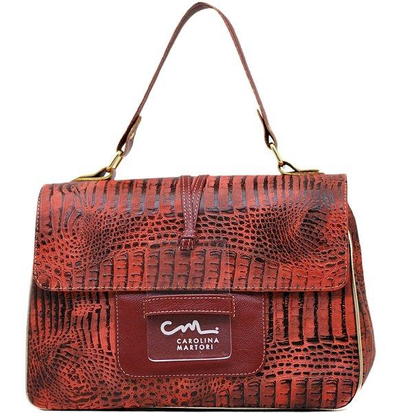 Bolsa Estruturada - 10276 - Vermelho / Vermelho