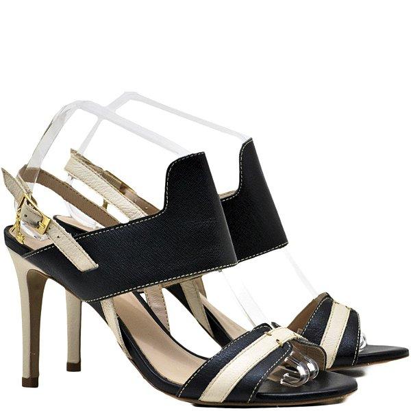 2acb9234e Sandália Salto Alto Fino - 6196 - Preto / Off - Sapatos, bolsas e ...