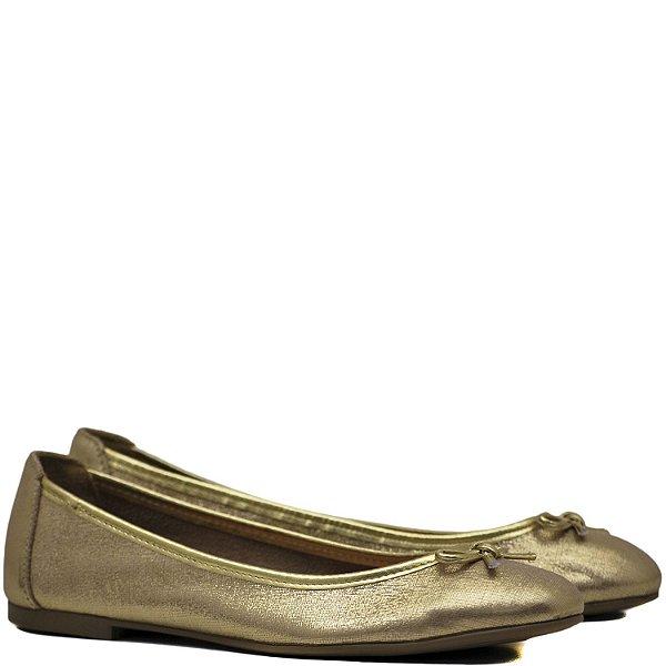 Sapatilha Charmosa com Detalhe Laço - Xadrez Ouro - 3615