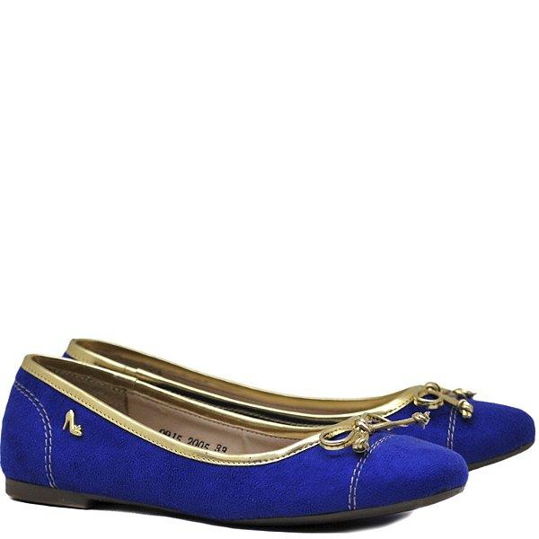 Sapatilha Suede Azul / Ouro - 2005
