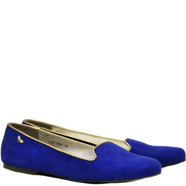 Sleep on - Suede Azul / Ouro - 9301