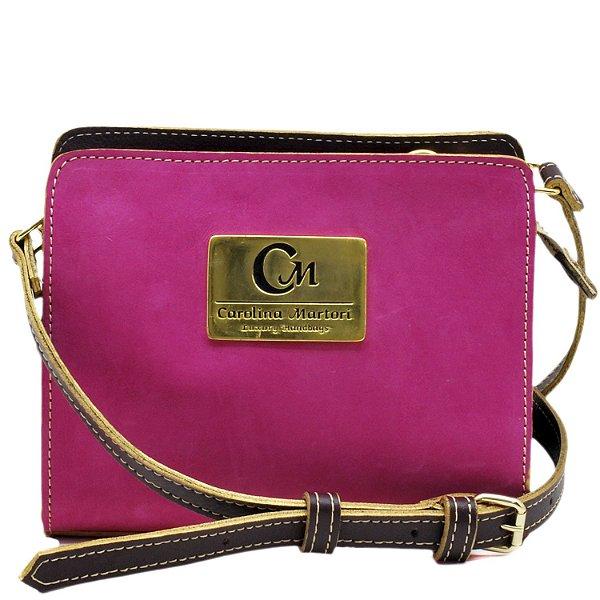 Bolsa Pequena Transversal - Nob. Pink / Vinho - 10363