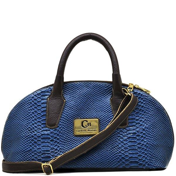 Bolsa Estruturada - 10360 - Cobra Azul / Café