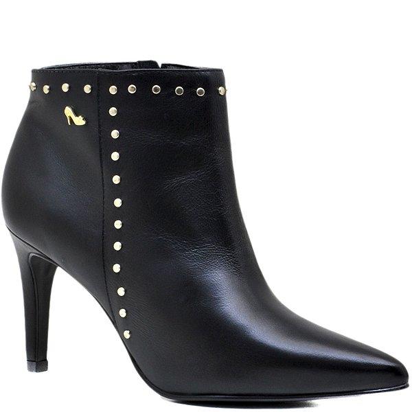 Bota Ankle Boot Rebites - 65075 - Preto