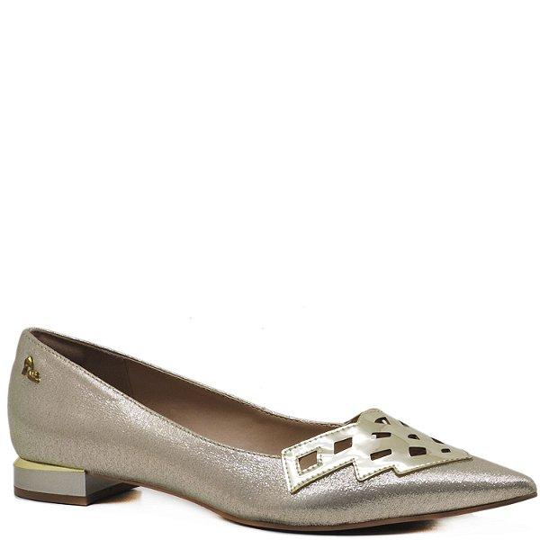 Sapatilha Bico Fino - 14503 - Dressy Ouro