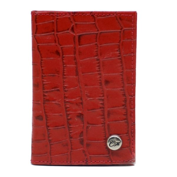 Carteira Pequena 902 - Croco Vermelho