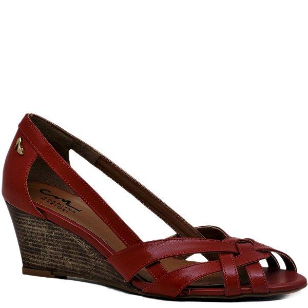 Sandália Anabela - Vermelha - PL6360