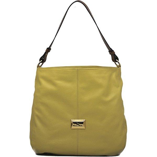 Bolsa Grande Saco - Amarelo / Conhaque - FLOR 720