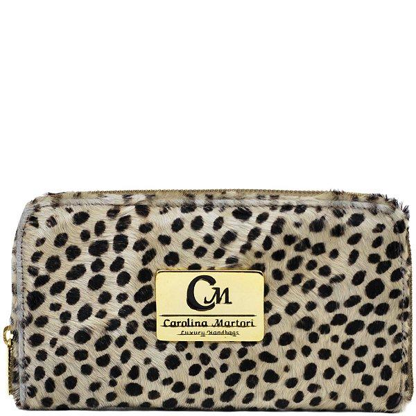 Carteira Grande - Pêlo Leopardo - 1005