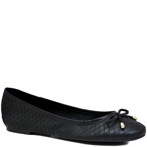 Sapatilha confortável - Escamado em Couro - Cobra Preto - GIU10202