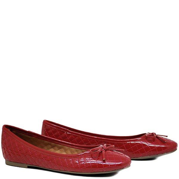 Sapatilha confortável - Verniz Matelassê - Vermelho - GIU10236