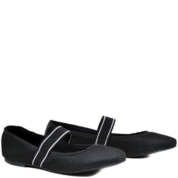 Sapatilha confortável - Malha Preto - GIU10208