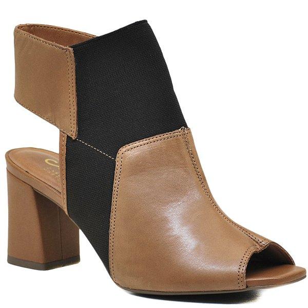 Sandália Open Boot Elástico - Camel - GIU 44503
