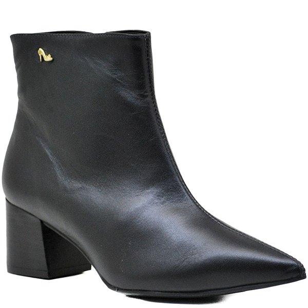 Bota Ankle Boot - Napa Preta - ST 10662