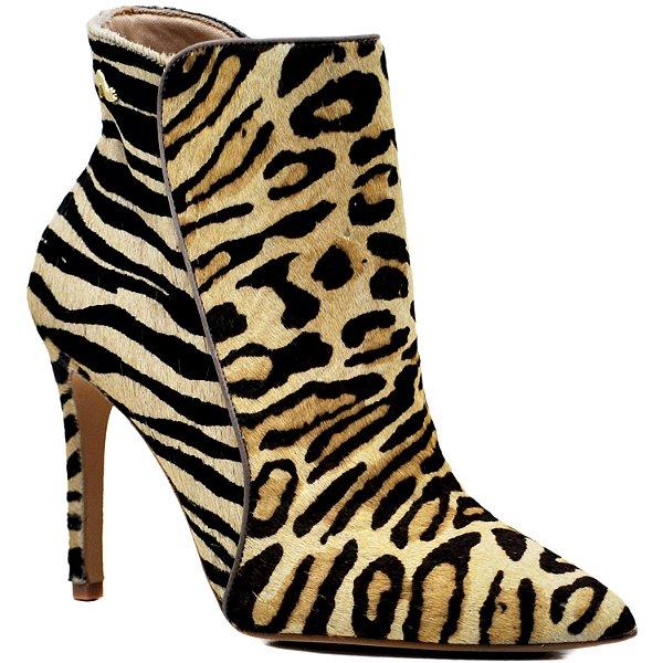 9e5c4dbae Bota Cano Baixo - Pêlo Onça   Zebra - KI 36407 - Sapatos