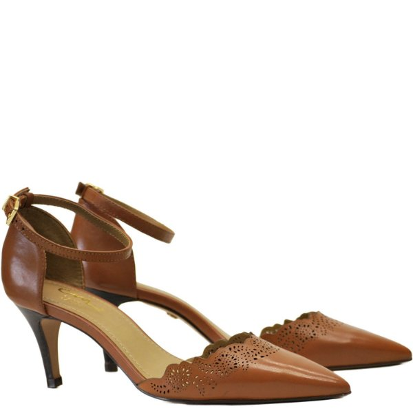 Scarpin Clássico - Saia e Blusa - Cognac - Ver 13723