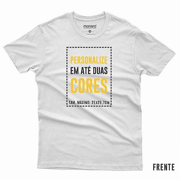 Camiseta personalizada 100% poliamida crepe running cor branca - Pedido mínimo de 6 unidades
