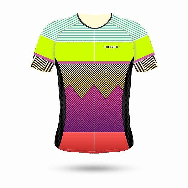 Camisa ciclismo feminina modelo COLORS linha comfort premium