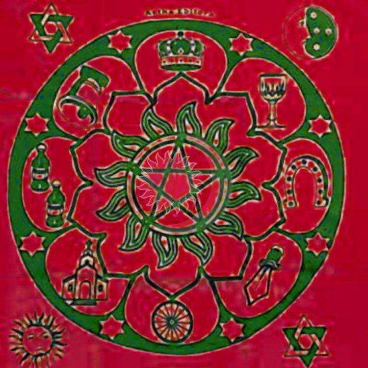 Toalha Para Tarô Mandala Cigana