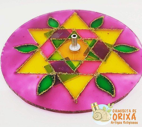 Incensário Mandala Vidro